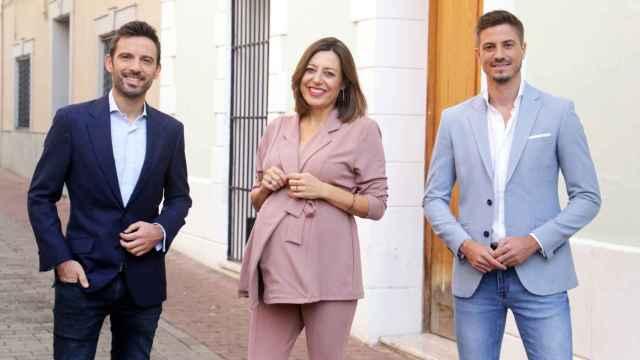 Manu Pérez, Lola Trigoso y Juan Pedro Sánchez.