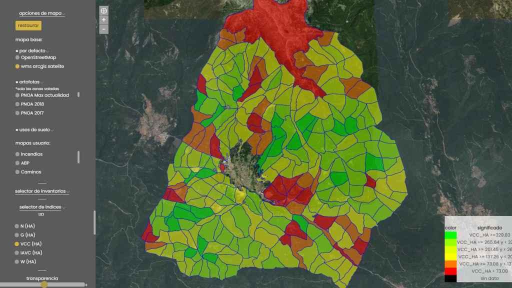 Forecast es una aplicación web que monitoriza, hace inventario y digitaliza cualquier bosque.