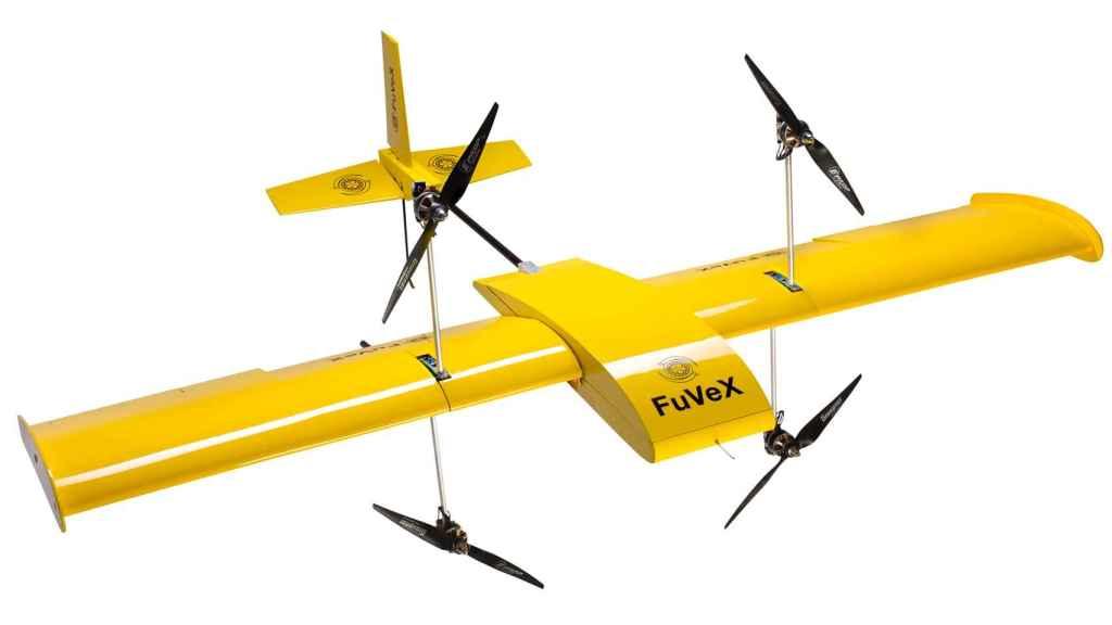 Prototipo del dron desarrollado por Fuvex para la inspección de líneas eléctricas.