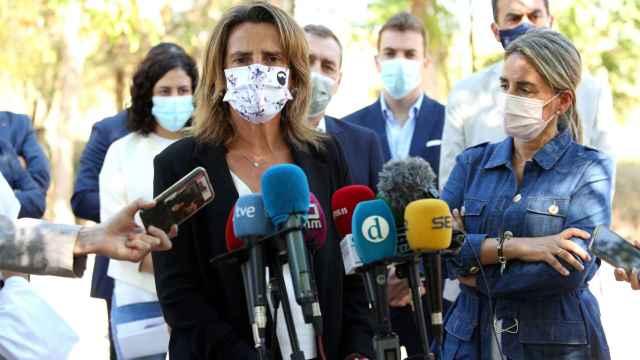 La ministra para la Transición Ecológica, Teresa Ribera, este viernes en Toledo.