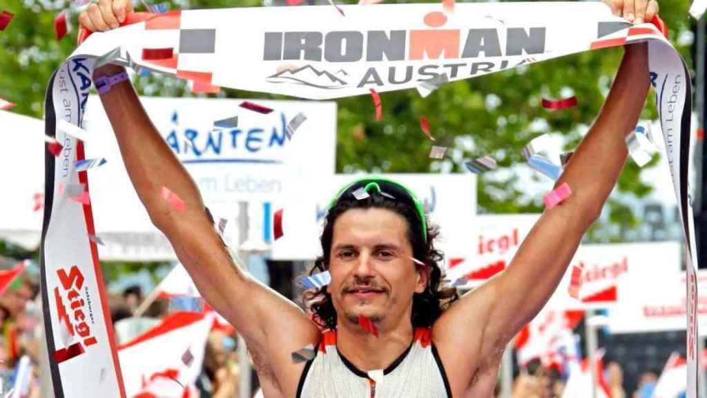 Iván Raña, durante un Ironman