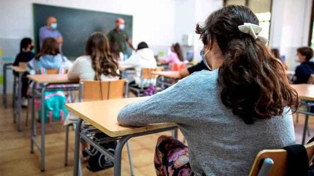 Un grupo de alumnos de la ESO en una clase.