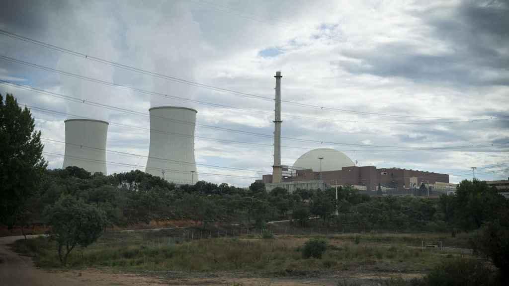 Una de las entradas a la central nuclear.