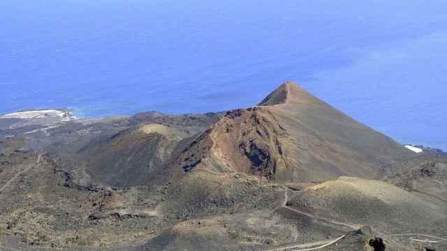 Volcán de Teneguía cerca de Cumbre Vieja, al sur de La Palma.