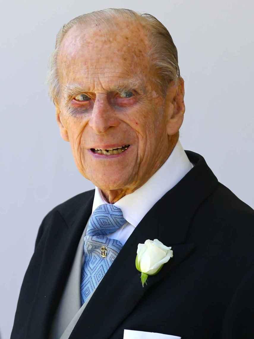El duque de Edimburgo en la boda del príncipe Harry y Meghan Markle.