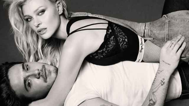 Brooklyn Beckham y Nicola Peltz, para Pepe Jeans.