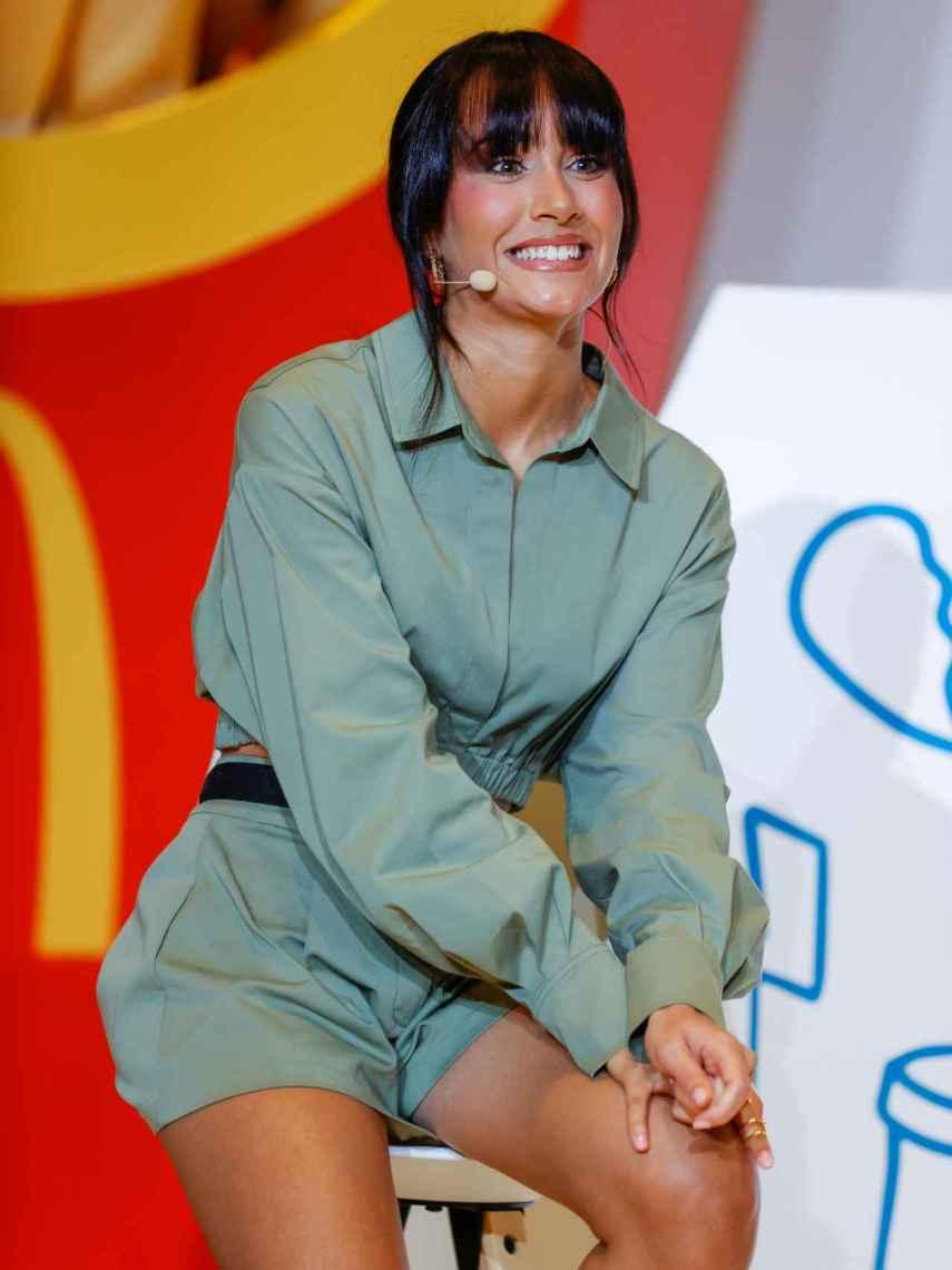 Aitana en la presentación de su menú de McDonald's.