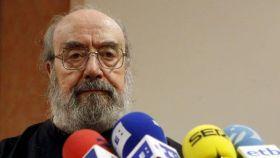 Alfonso Sastre, durante una rueda de prensa.