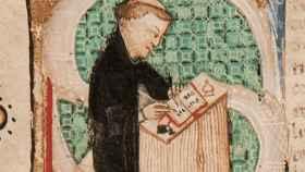 El fraile Galvano Fiamma según un códice de 1438.