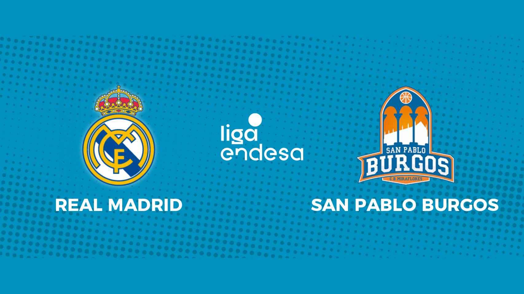 Real Madrid - Hereda San Pablo Burgos: siga en directo el partido de la Liga Endesa