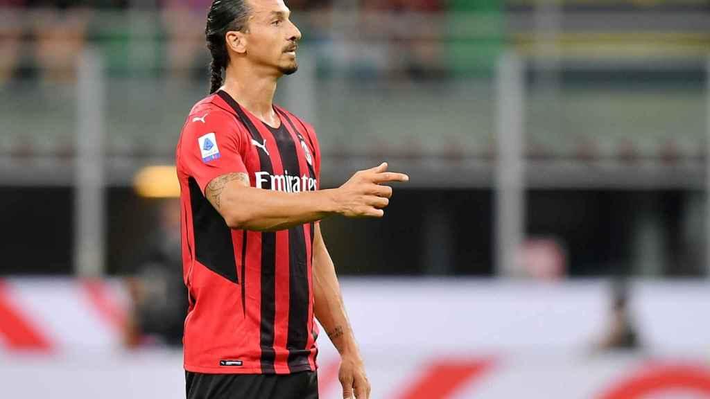 Ibrahimovic durante un partido con el Milan