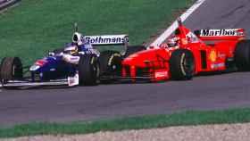 Jacques Villeneuve y Michael Schumacher en el Gran Premio de Europa 1997 en Jerez