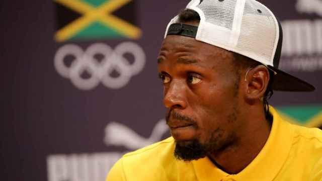 Usain Bolt durante un acto en Jamaica