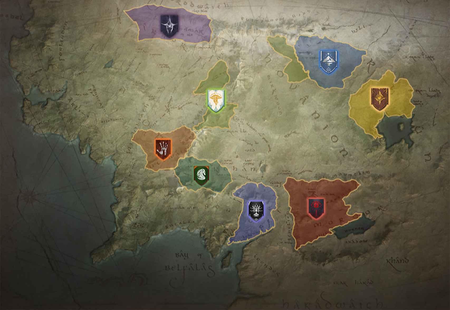 Los reinos de la Tierra Media