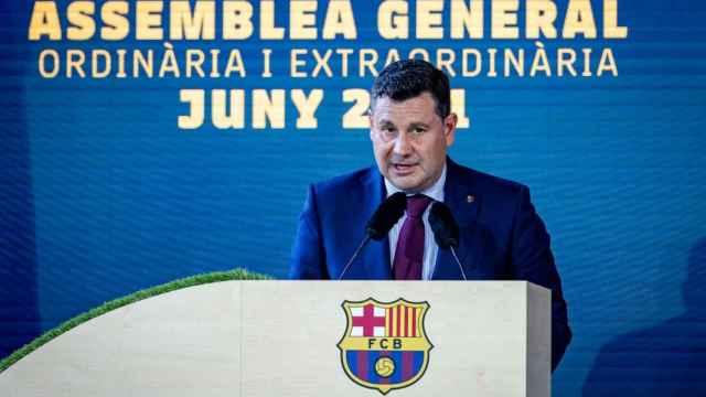 Eduard Romeu, en un acto del FC Barcelona