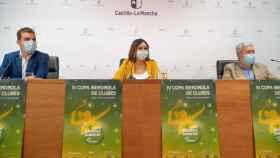 Presentación de la IV Copa Iberdrola de Bádminton con la viceconsejera de Cultura y Deportes, Ana Muñoz