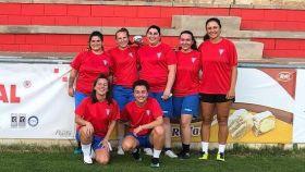 Jugadoras del equipo femenino de La Roda