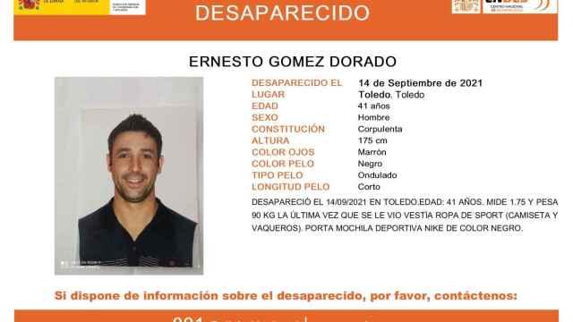 Se busca en Toledo a Ernesto Gómez, desaparecido desde el pasado martes
