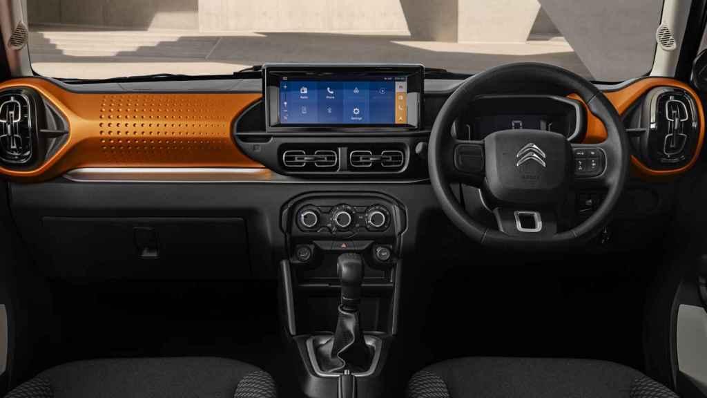 Interior del Citroën C3 de mercados emergentes.