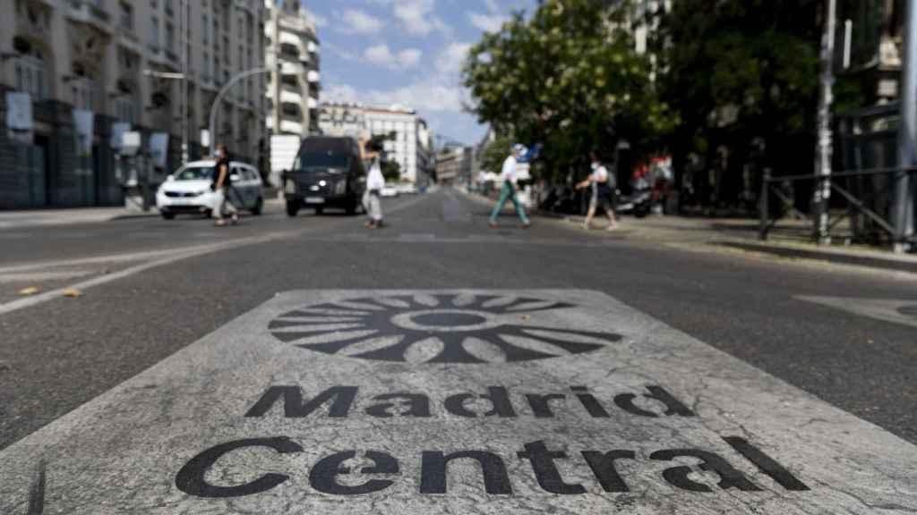 Tráfico restringido en Madrid Central.