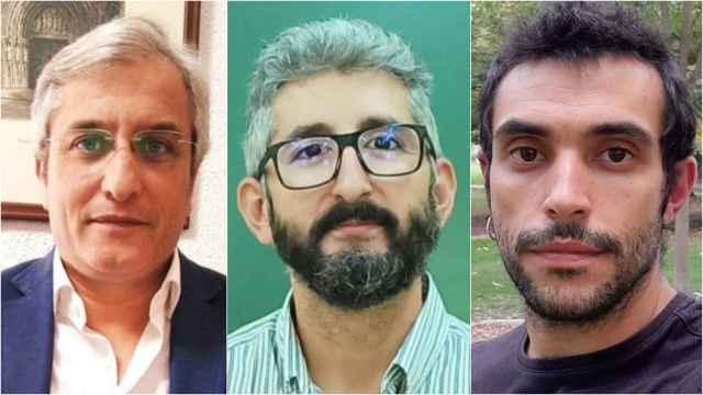 De izquierda a derecha: Enrique Castillejo, Borja Delgado y Alberto Sánchez, tres profesionales del mundo de la educación.