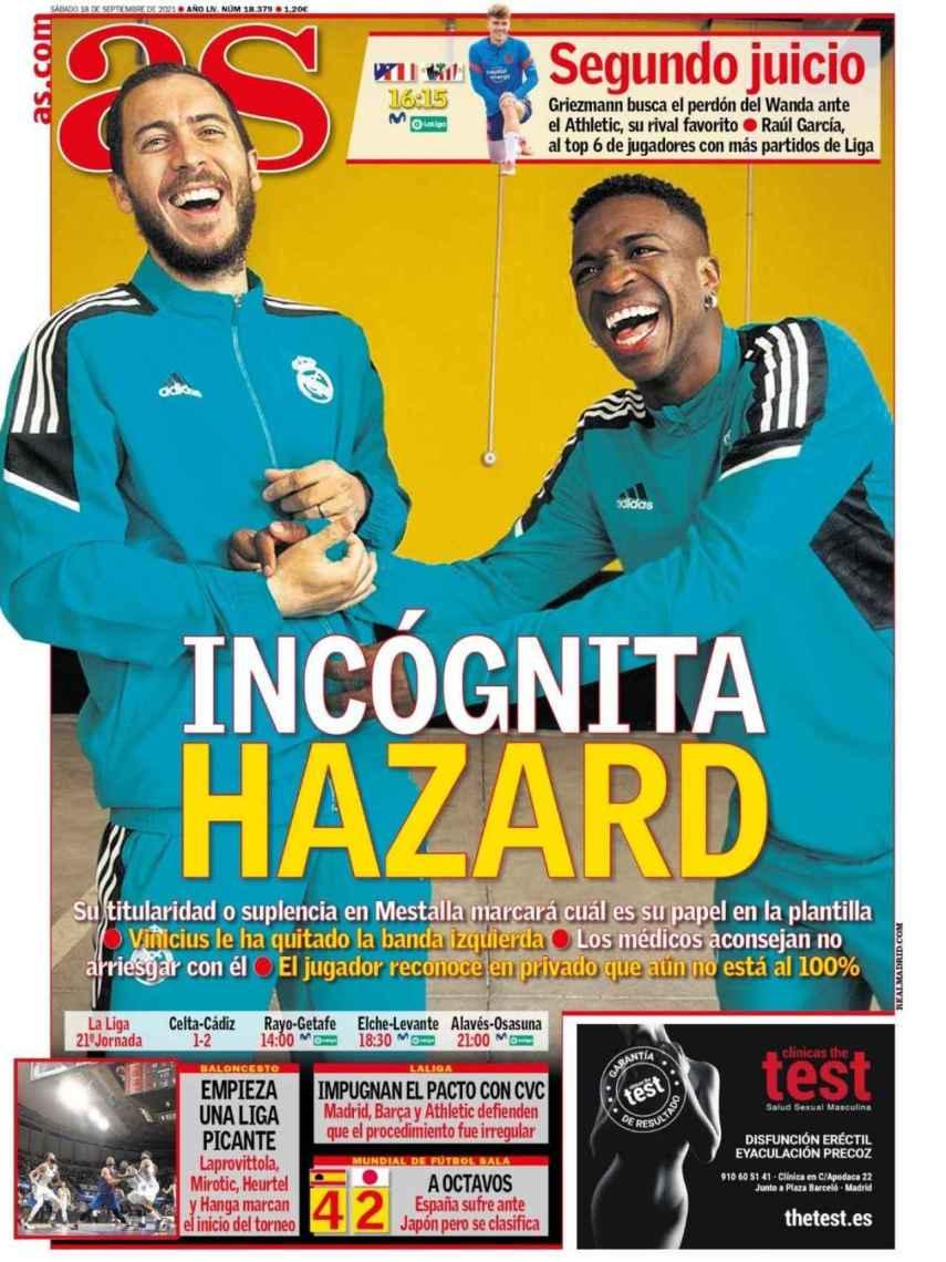 La portada del diario AS (18/09/2021)