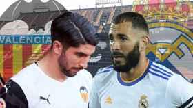 Carlos Soler y Karim Benzema, en un fotomontaje