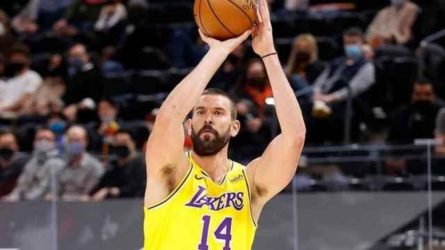 Marc Gasol durante un partido con Los Ángeles Lakers