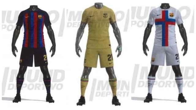 Las tres equipaciones del Barça para la temporada 2022/2023
