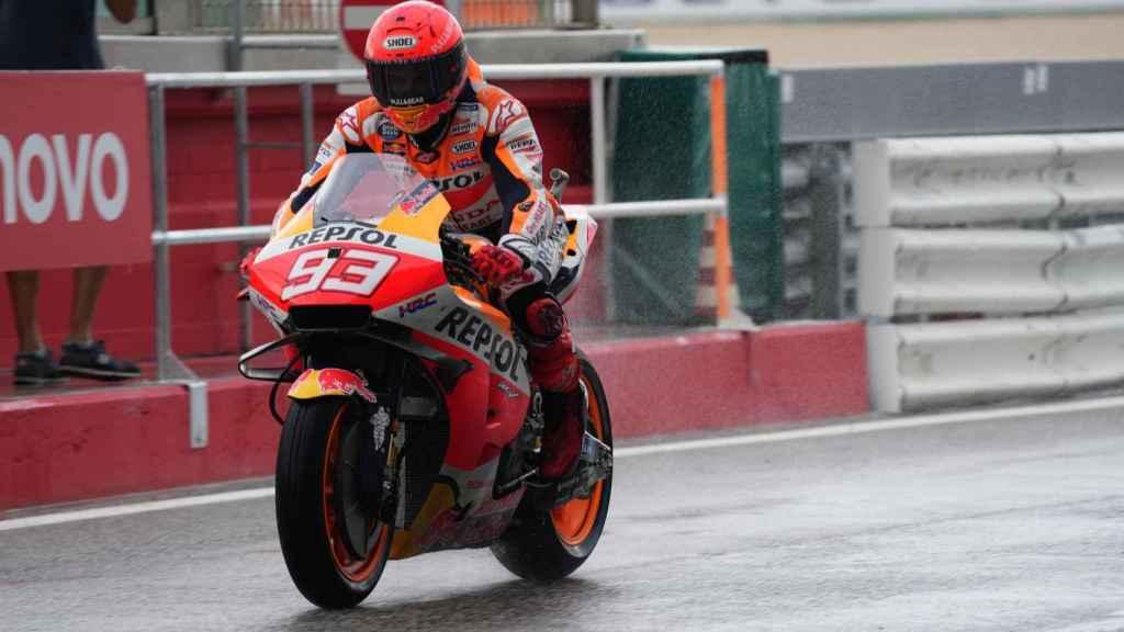 Marc Márquez en el Gran Premio de San Marino en Misano