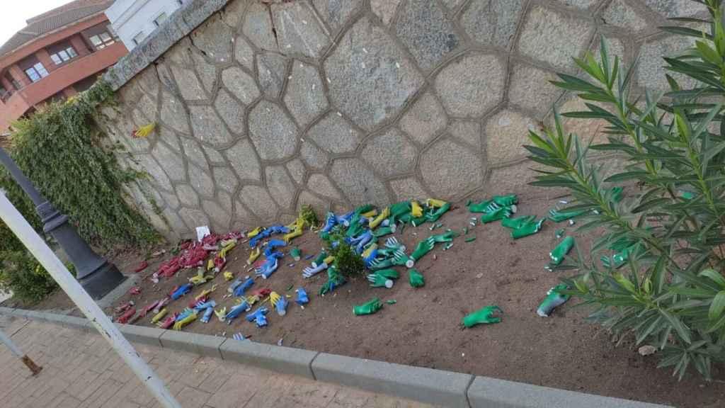 La obra de arte urbano, completamente destrozada en Consuegra.