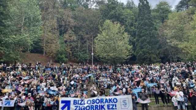 Movilización de Sare en Mondragón, este sábado.