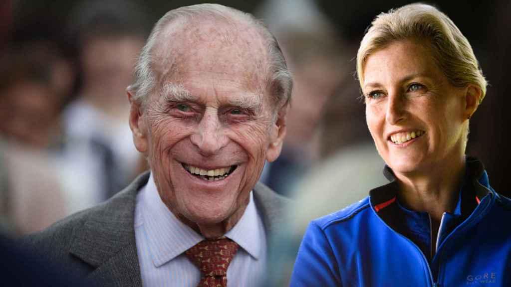 El duque de Edimburgo y Sophie de Wessex en un montaje de JALEOS.