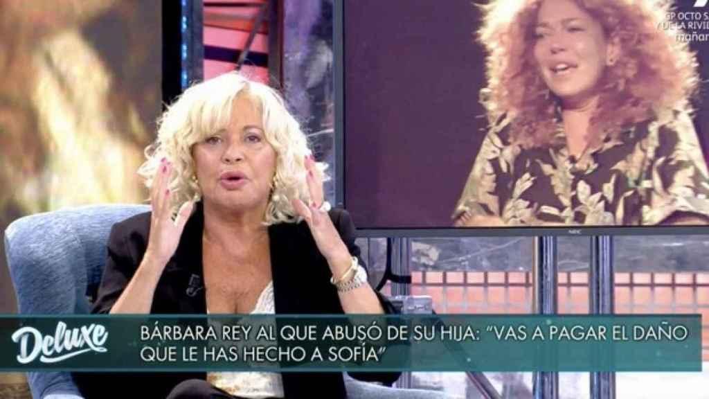 Bárbara Rey en el plató de 'Sábado Deluxe'.