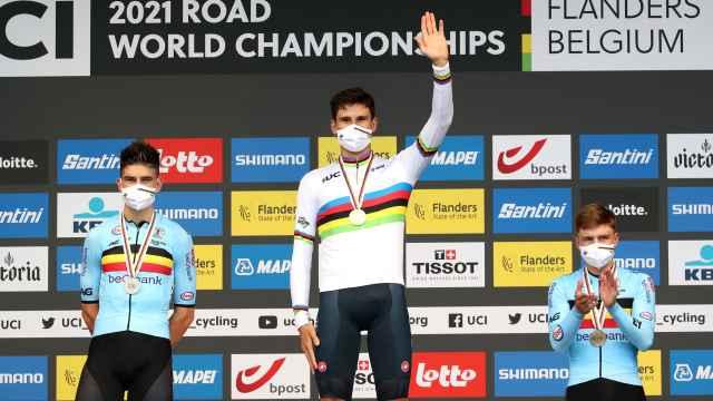 Filippo Ganna, campeón del mundo de contrarreloj por delante de Van Aert y Evenepoel
