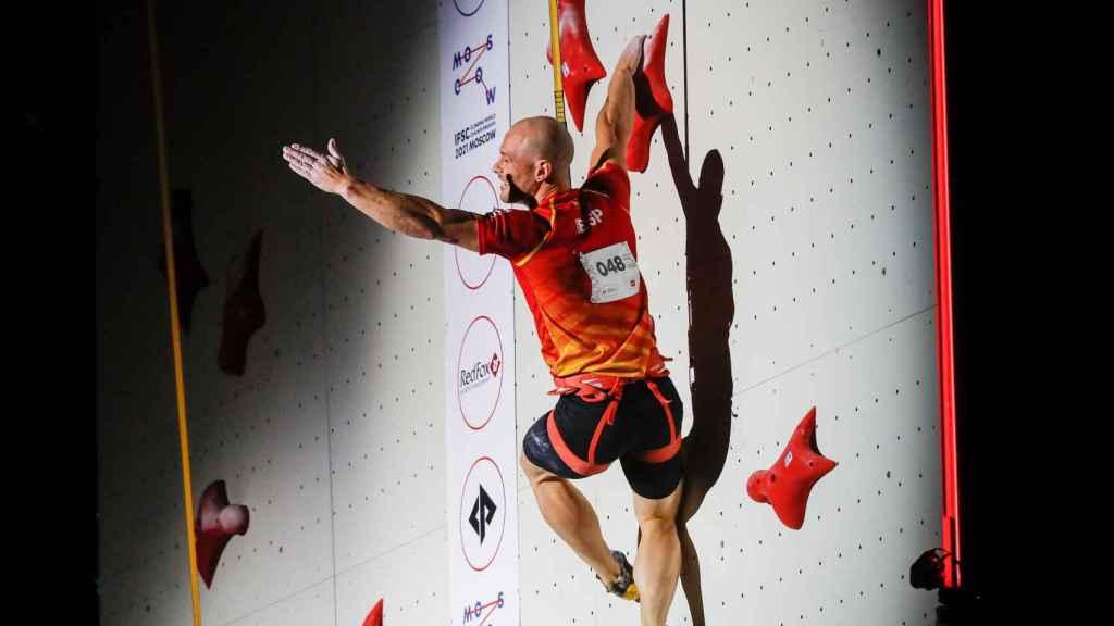 Erik Noya durante una competición