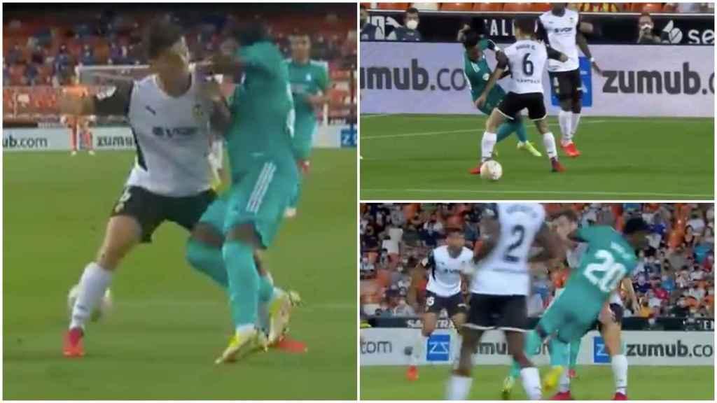 Posible penalti sobre Vinicius