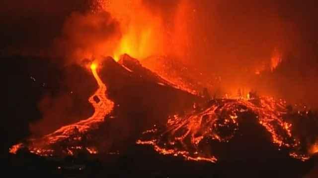 Los ríos de lava del volcán de Cumbre Vieja, en la Isla de La Palma.