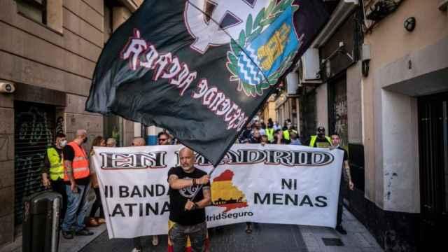 Manifestación neonazi en Chueca, Madrid.