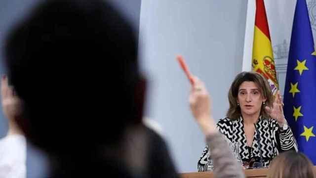 La vicepresidenta tercera del Gobierno, Teresa Ribera, en Moncloa.