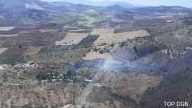 Declaran un incendio en Villanueva de la Concepción, Málaga: trabajan 9 bomberos forestales