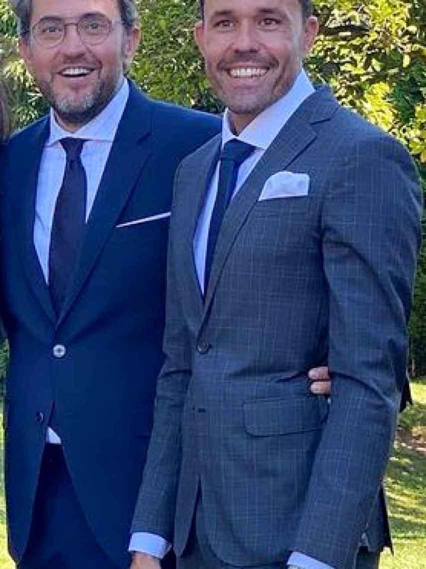 Máximo Huerta y Juan Castillo, en la boda de unos amigos.