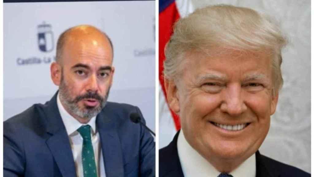 Íñigo Cortázar y Donal Trump en un montaje fotográfico de Usicam