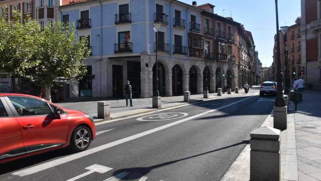 Muchas calles de Valladolid tienen ya limitada la velocidad máxima a 30 km/h