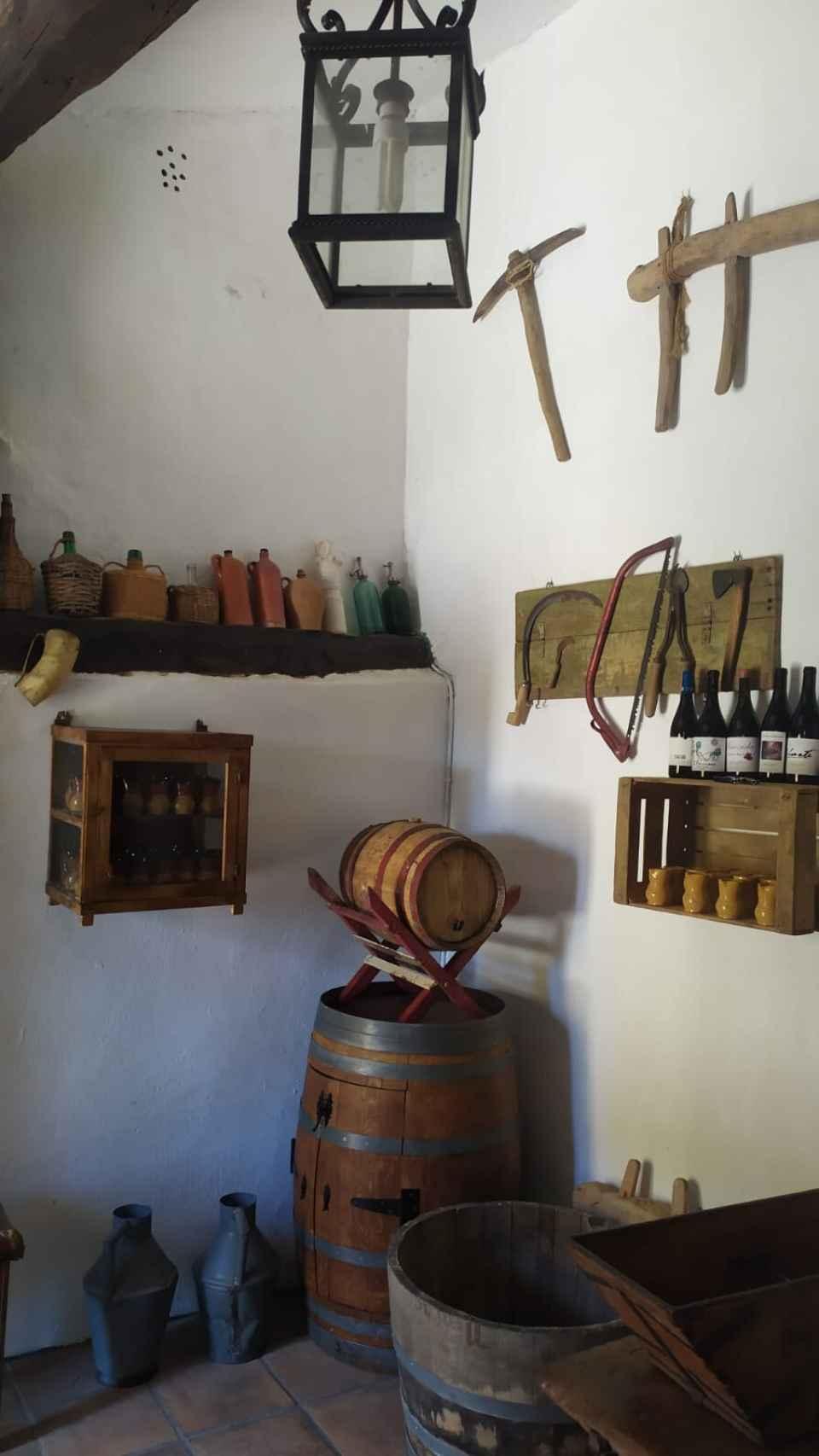 Interior de una bodega en la localidad de Peñafiel