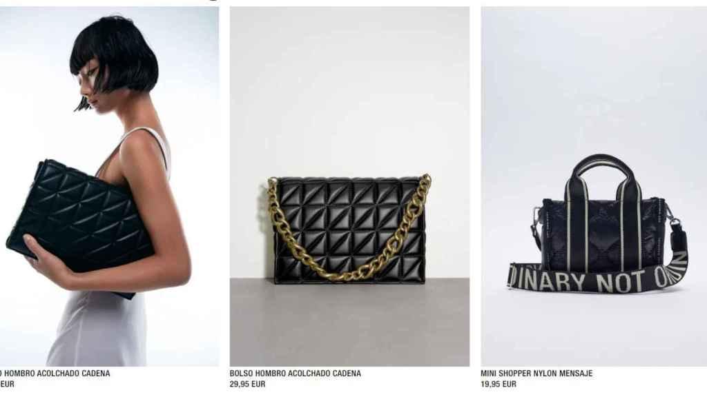 Bolsos acolchados de Zara de nueva colección.