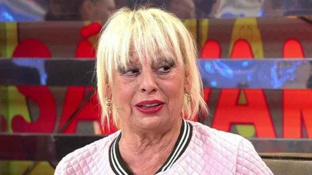 Josele Román el día que reapareció en el programa 'Sálvame' de Telecinco.