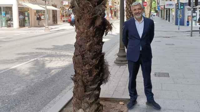 Luis Garicano (Cs), en su visita a Alicante para conocer las inquietudes de la sociedad sobre el futuro de Europa.