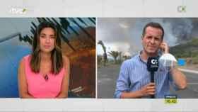 El 'Telenoticias Fin de Semana' emitió en directo la erupción de Cumbre Vieja.
