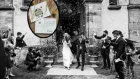 Imagen de la primera boda celebrada en Comillas. Fotografía cedida a El Español Noticias de Castilla y León por la pareja